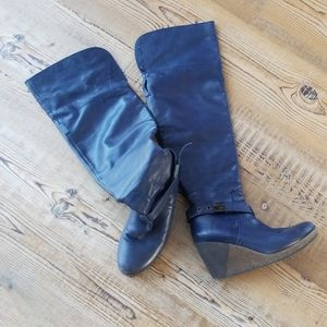 Rare Dr Scholl Blue Over the knee Boots